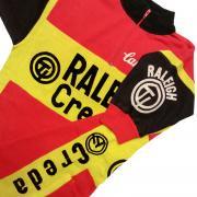 ヴィンテージ RALEIGH CREDA - CAMPAGNOLO サイクリングジャージ アクリル ニット フロッキープリント S位