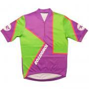 1980's フランス ヴィンテージ ROSSIGNOL ロシニョール サイクリング ジャージ サイクリングウェア 紫・橙・黄緑 サイズ:M