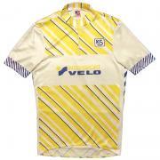 1980's ヴィンテージ 西ドイツ KNIPFER サイクリングジャージ サイクリングシャツ VELO 紺・白・黄  /M