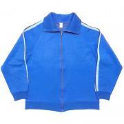 1970's ドイツ製 ヴィンテージ ジャージ トラック ジャケット カラー:ブルー/ライトブルー サイズ:5(L 位)