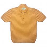 1970's U.S.A. ヴィンテージ BAN-LON バンロン ゴルフ テニス ボーダー柄 《Color》薄橙色系茶 《Size》M