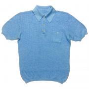 1970's Europe U.K. ヴィンテージ バンロン ゴルフ テニス メッシュ 半袖ポロ 《Color》青系 《Size》L位