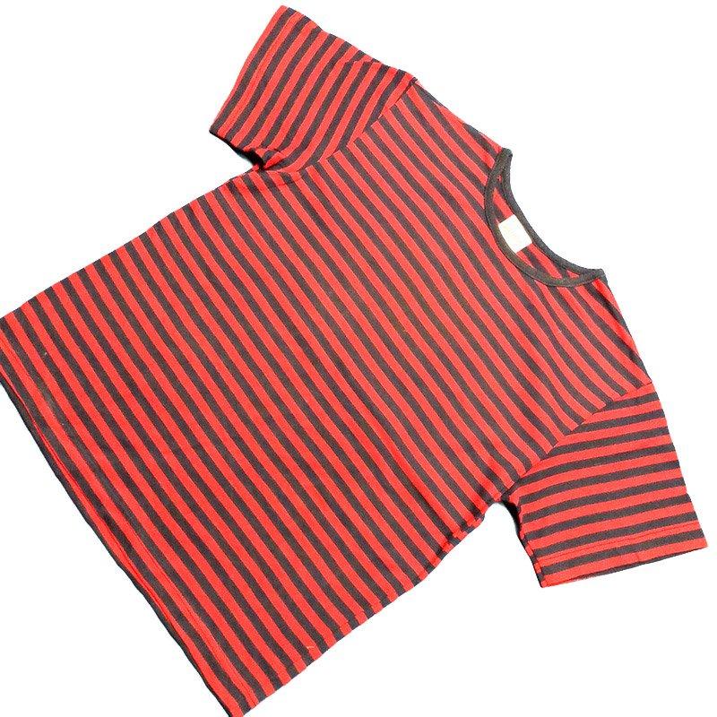 1980's ~ 1990's U.S.A. ボーダー Tシャツ 半袖 キッズサイズ L ( 10 ~ 12 ) ¥499
