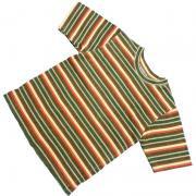 1980's 〜 1990's U.S.A. ボーダー Tシャツ 半袖 キッズサイズ M ( 10 ~ 12 )