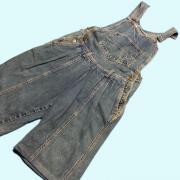MEXICO 1980's オーバーオール ショーツ ショートパンツ カラー: ブルー系 ウエスト: 76cm