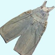 U.S.A. 1980's オーバーオール ショーツ ショートパンツ カラー: ブルー系 ウエスト: 76cm