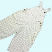U.S.A. 1980's オーバーオール ショーツ ショートパンツ ストライプ 青/白系 ウエスト:76cm