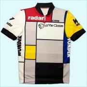 = フランス 1984年 Toshiba La Vie Claire 東芝ラヴィクレア = イタリア製 ヴィンテージ Santini サンティーニ サイクリングジャージ サイクリングウェア サイズ:S