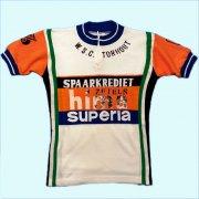1970's ベルギー製 RAXAR ヴィンテージ サイクリングジャージ W.S.C. TORHOUT サイクリングウェア サイズ:14