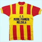 1970's イタリア製 G.S. MOBILI RANIERI MELDOLA ヴィンテージ サイクリングジャージ サイクリングウェア チェーンステッチ刺繍 サイズ:L位
