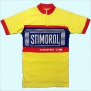 1970's ベルギー製 STIMOROL ヴィンテージ サイクリングジャージ サイクリングウェア フロッキープリント サイズ:M 位