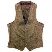 1950 〜 1970年代 U.S.A. ヴィンテージ ウール ツイード メンズ ベスト グレード:A ランク  カラー:黒茶系 サイズ:S 位