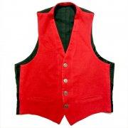 1950 〜 1970年代 U.S.A. ヴィンテージ ウール メンズ ベスト バックベルト グレード:AB ランク カラー:赤/黒 系 サイズ:S 位
