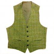1950〜1970年代 U S A ヴィンテージ ウール ツイード メンズ ベスト バックベルト グレード:AB ランク  カラー:緑 系 サイズ:S 位