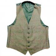 1950 〜 1970 年代 U.S.A. ヴィンテージ メンズ ベスト チェック柄 カラー:グリーン 系 サイズ:M 位