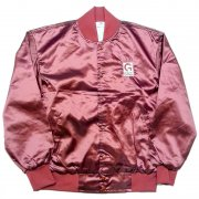 1980 年代 U.S.A. THE GREAT LAKES JACKET ヴィンテージ サテンジャケット ロゴ刺繍:Giffels カラー:エンジ色 系 サイズ:L