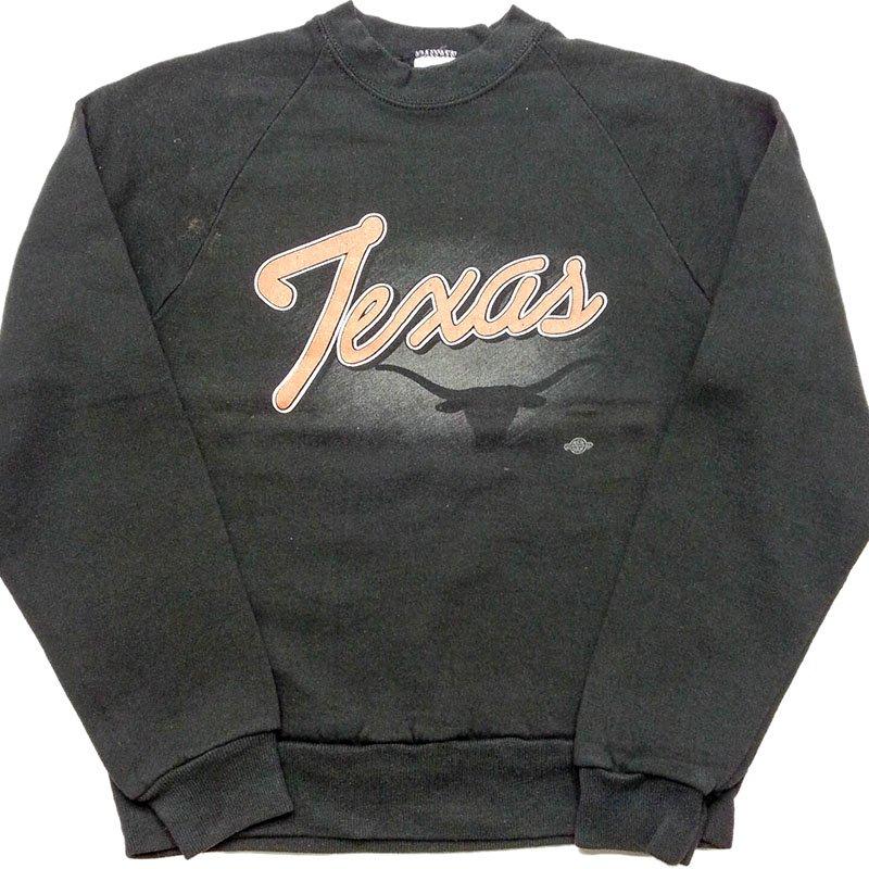 1980年代 U.S.A. JERZEES PRINT SWEAT SHIRT KIDS プリント スウェットシャツ トレーナー キッズ カラー:ブラック サイズ:14-…