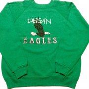 1980年代 U.S.A. Hanes PRINT SWEAT SHIRT KIDS プリント スウェットシャツ トレーナー キッズ カラー:グリーン 系 サイズ:14-16