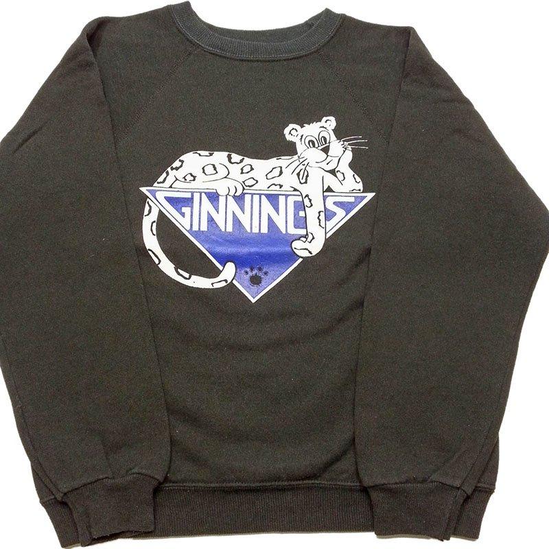 1980年代 U.S.A. Hanes PRINT SWEAT SHIRT KIDS プリント スウェットシャツ トレーナー キッズ カラー:ブラック 系 サイズ:14-…