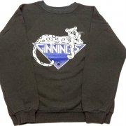 1980年代 U.S.A. Hanes PRINT SWEAT SHIRT KIDS プリント スウェットシャツ トレーナー キッズ カラー:ブラック 系 サイズ:14-16