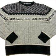 1970 年代 U.S.A. CHRISTOPHER RAND ヴィンテージ ノルディックセーター カラー:ブラック/グレー 系 サイズ:L 位