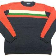 1970 年代 U.S.A. JCPenney Ski Apparel JC ペニー ヴィンテージ スキーセーター カラー:オレンジ/コン 系 サイズ:L