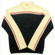 1970 年代 U.S.A. GIMBELS Ski Sweater ヴィンテージ メンズ スキーセーター カラー:赤/乳白色/濃紺 系 サイズ:M