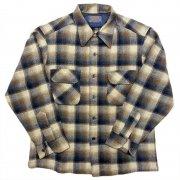 1970 年代 U.S.A. PENDLETON ペンドルトン ヴィンテージ ボードシャツ ウールシャツ オンブレーチェック カラー:紺・青・茶・白茶 系 表記サイズ:L