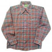1960 年代 U.S.A. PENDLETON ペンドルトン ヴィンテージ ボードシャツ ウールシャツ チェック柄 カラー:エンジ色・紺・青 系 表記サイズ:M
