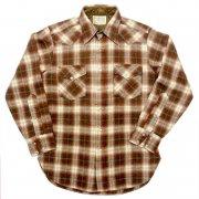 1970 年代 U.S.A. PENDLETON ペンドルトン ヴィンテージ ウエスタンシャツ ウールシャツ オンブレーチェック カラー:茶・緑・薄茶・白茶 系 表記サイズ:M
