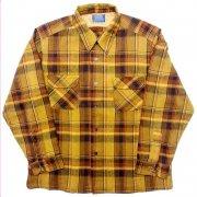 1960 年代 U.S.A. PENDLETON ペンドルトン ヴィンテージ ボードシャツ ウールシャツ チェック柄 カラー:オリーブ・薄緑 系 表記サイズ:XL