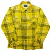 1950 年代 U.S.A. PENDLETON ペンドルトン ヴィンテージ ボードシャツ ウールシャツ チェック柄 カラー:黃・薄灰・茶・乳白 系 表記サイズ:M