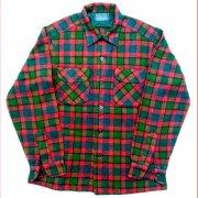 1950 年代 U.S.A. PENDLETON ペンドルトン ヴィンテージ ボードシャツ ウールシャツ チェック柄 カラー:赤・緑・黒 系 表記サイズ:M