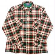 1970 年代 U.S.A. PENDLETON ペンドルトン ヴィンテージ ボードシャツ ウールシャツ タータンチェック カラー:赤・緑・紺・淡黄・乳白 系 表記サイズ:L