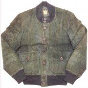 1980 年代 Europe Leather Jacket Suede ヴィンテージ レザージャケット Echtes Leder スウェード 本革 カラー:黒 系 表記サイズ:50