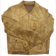 1980年代 Europe Leather Jacket Suede ヴィンテージ レザージャケット Echtes Leder スウェード 本革 カラー:黒 系 表記サイズ:50