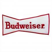 1970年代 U.S.A. DeadStock デッドストック 企業ワッペン 刺繍 大判サイズ BUDWEISER バドワイザー カラー:レッド・ホワイト サイズ:218ミリx100ミリ