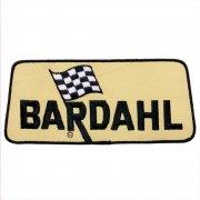 1970年代 U.S.A. DeadStock デッドストック 企業ワッペン 刺繍 大判サイズ BARDAHL バーダル カラー:ブラック・イエロー サイズ:240ミリx106ミリ