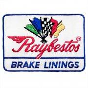1970年代 U.S.A. DeadStock デッドストック 企業ワッペン 刺繍 大判サイズ Raybestos BRAKE LININGS カラー:緑・青・銀・黒・赤 サイズ218ミリx152ミリ