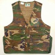 1970〜80年代製 U.S.A. GAME WINNER SPORTSWEAR Camouflage Hunting Vest ハンティング ベスト カモフラージュ 迷彩 色:緑・茶・黒 サイズ:M