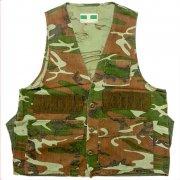 1970〜80年代製 U.S.A. GAME WINNER SPORTSWEAR Camouflage Hunting Vest ハンティング ベスト カモフラージュ 迷彩: 緑・茶・黒 サイズ:M位