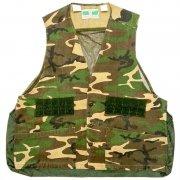 1970〜80年代製 U.S.A. GAME WINNER SPORTSWEAR Camouflage Hunting Vest ハンティング ベスト カモフラージュ 迷彩 色:緑・茶・黒 サイズ:L