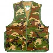 1970〜80年代製 U.S.A. GAME WINNER SPORTSWEAR Camouflage Hunting Vest ハンティング ベスト カモフラージュ 迷彩 色:緑・茶・黒 サイズ:S