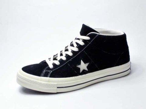 【Converse USA】 One Star '74 MID Vintage Suede・三ツ星復刻ワンスタースエード/black