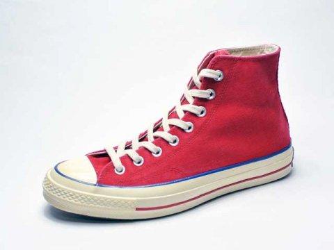 【Converse USA】'70 Chuck Taylor HI Vintage Canvas・三ツ星復刻チャックテイラーCT70/vintage red
