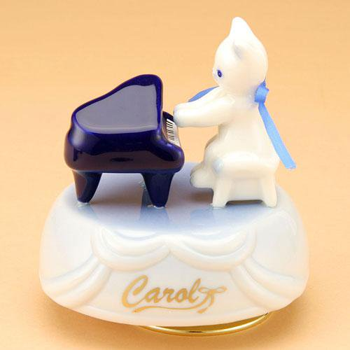 CR211/キャロル オルゴール ピアノ (陶器製品)