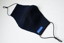 THE TANGO 洗える手織りSILKマスク(ガルザ/ダークネイビー)