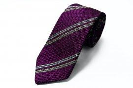 【2Line Regimental】 2Line Regimental Tie (Purple)