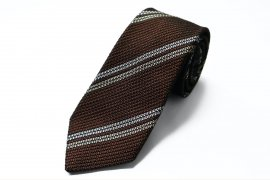 【2Line Regimental】 2Line Regimental Tie (Brown)