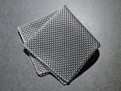 【Garza】 Garza Pocket Square (White Gray)